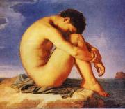 Young Man Beside the Sea   1 Hippolyte Flandrin