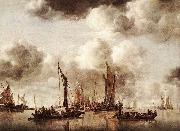 Dutch Yacht Firing a Salvo fg CAPELLE, Jan van de