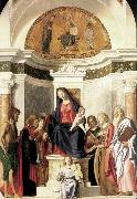 Madonna Enthroned with the Child dfg CIMA da Conegliano
