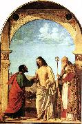 The Incredulity of St. Thomas with St. Magno Vescovo fg CIMA da Conegliano