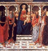 The Virgin and Child Enthroned with Saints Cosimo Rosselli
