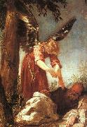 An Angel Awakens the Prophet Elijah dfg ESCALANTE, Juan Antonio Frias y