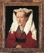 Portrait of Margareta van Eyck sdf EYCK, Jan van