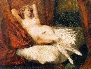 Female Nude Reclining on a Divan Eugene Delacroix