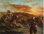 Fording a Stream in Morocco Eugene Delacroix