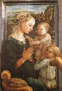 Madonna and Child with Two Angels Fra Filippo Lippi