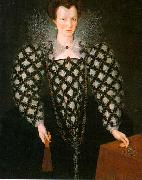 Portrait of Mary Rogers: Lady Harrington dfg GHEERAERTS, Marcus the Younger