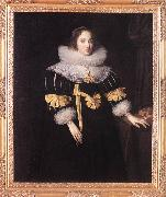 Portrait of Lady Anne Ruhout df GHEERAERTS, Marcus the Younger