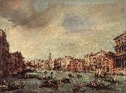 The Grand Canal, Looking toward the Rialto Bridge sg GUARDI, Francesco