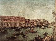 The Grand Canal at the Fish Market (Pescheria) dg GUARDI, Francesco