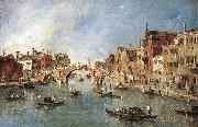 The Three-Arched Bridge at Cannaregio sdg GUARDI, Francesco