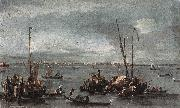 The Lagoon Looking toward Murano from the Fondamenta Nuove sdg GUARDI, Francesco
