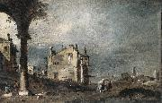 Capriccio with Venetian Motifs sg GUARDI, Francesco