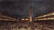 Nighttime Procession in Piazza San Marco fdh GUARDI, Francesco