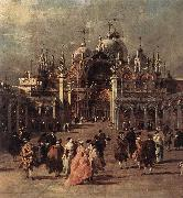 Piazza di San Marco (detail) dh GUARDI, Francesco