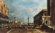 View of Piazzetta San Marco towards the San Giorgio Maggiore sdg GUARDI, Francesco