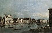 The Grand Canal with Santa Lucia and the Scalzi dfh GUARDI, Francesco