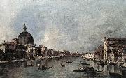 The Grand Canal with San Simeone Piccolo and Santa Lucia sdg GUARDI, Francesco