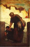The Laundress Honore  Daumier