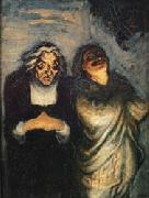 Scene from a Comedy Honore  Daumier