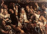 The King Drinks s JORDAENS, Jacob