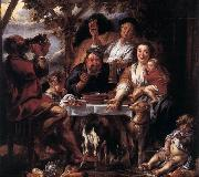 Eating Man f JORDAENS, Jacob