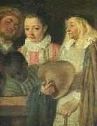 Actors from a French Theatre (Detail) Jean-Antoine Watteau