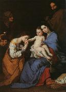 The Holy Family with Saints Anne Catherine of Alexandria Jusepe de Ribera