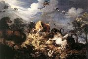 Horses and Oxen Attacked by Wolves Roelant Savery