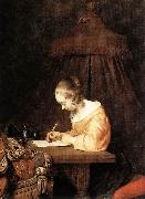 Woman Writing a Letter a TERBORCH, Gerard