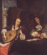 Woman Playing the Lute st TERBORCH, Gerard