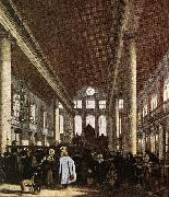 Interior of the Portuguese Synagogue in Amsterdam WITTE, Emanuel de