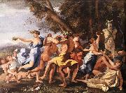 Bacchanal before a Statue of Pan zg POUSSIN, Nicolas