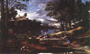 Landscape with a Man Killed by a Snake af POUSSIN, Nicolas