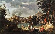 Landscape with Orpheus and Euridice sg POUSSIN, Nicolas
