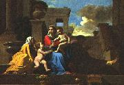 Holy Family on the Steps af POUSSIN, Nicolas