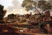 Landscape with the Funeral of Phocion af POUSSIN, Nicolas
