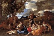 Bacchanal: the Andrians af POUSSIN, Nicolas