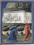 Dante,Guided by virgil bows before a relief depicting Emperor Trajan and the widow in canto X of the Purgatorio Guglielmo Girardi