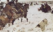 Peter the Great Riding to Hounds Valentin Serov