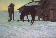 Colts at a Watering-Place. Valentin Serov