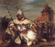 A Moroccan from the Sultan-s Guard Eugene Delacroix