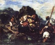 African Priates Abducting a Young Woman Eugene Delacroix