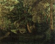George Sand-s Garden at Nohant Eugene Delacroix