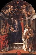 Madonna and the child Enthroned with Saint john the Baptist,Victor,Bermard and Zenobius Fra Filippo Lippi