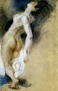 Female Nude, Killed from Behind Eugene Delacroix