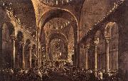 Doge Alvise IV Mocenigo Appears to the People in St Mark's Basilica in 1763 GUARDI, Francesco