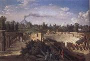 View of the Ruins of the Antique Theatre of Pompei Jakob Philipp Hackert