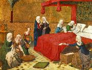 The Birth of Mary MASTER of the Life of the Virgin