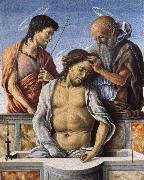 THe Dead Christ with Saint John the Baptist and Saint Jerome Marco Zoppo
